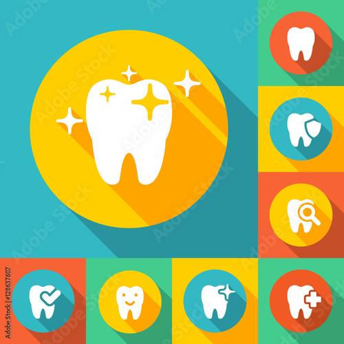 illustration of dental icons #128637607