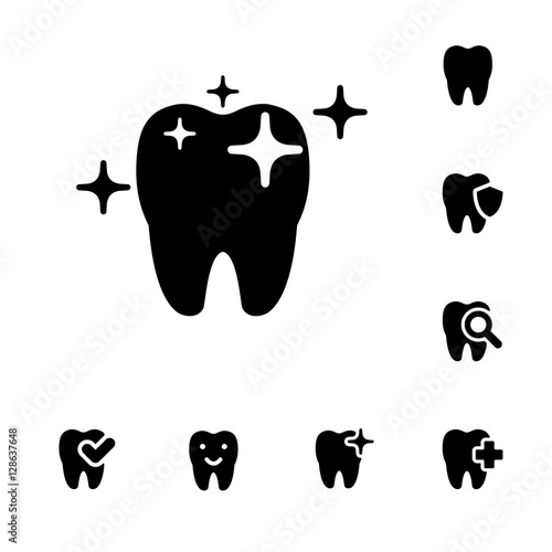 illustration of dental icons set #128637648