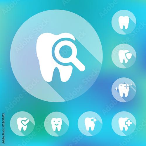 illustration of dental icons set #128637685