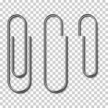 Metal Paperclips Isolated And ...
