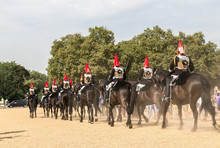 Royal Guards In Admiralty House In London