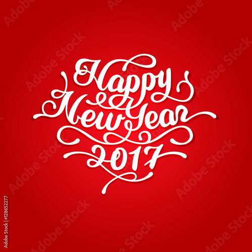 Happy New Year 2017 lettering #128652277