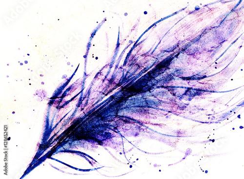 recznie-rysowane-abstrakcyjne-fioletowe-pioro