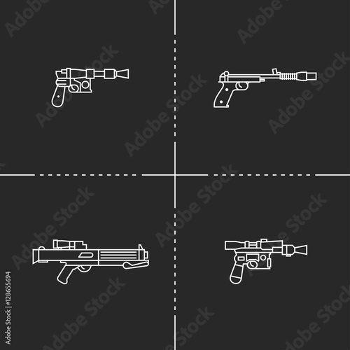 Fantastic weapons illustration Canvas Print