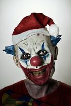 Scary Evil Clown With A Santa ...