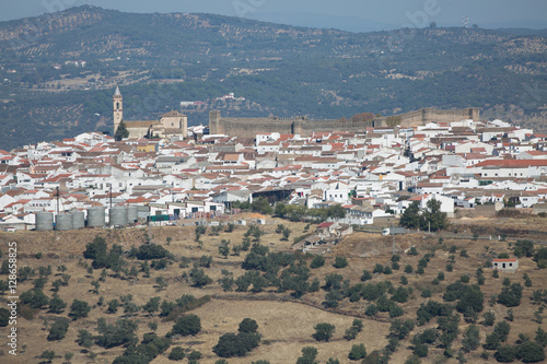 Spanish village in the mountains. cumbres Mayores