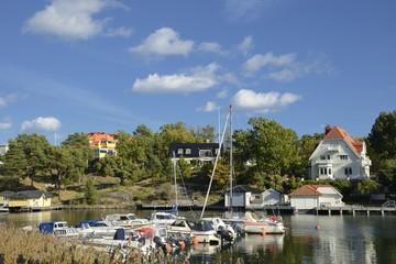 Fototapeta na wymiar Harbor in Nynashamn - Sweden.
