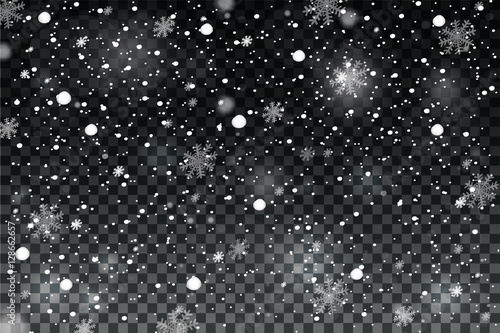 Fotografia Winter with snow in transparent background