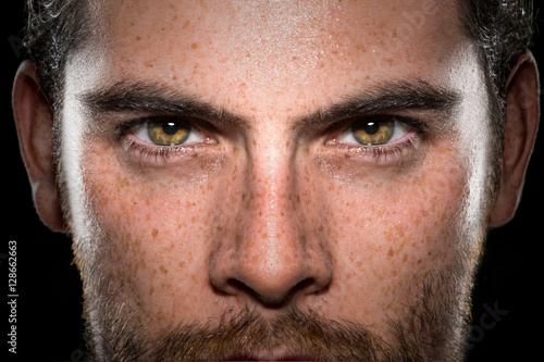 Fotografie, Obraz  Conviction focused determined passionate confident powerful eyes stare intense a