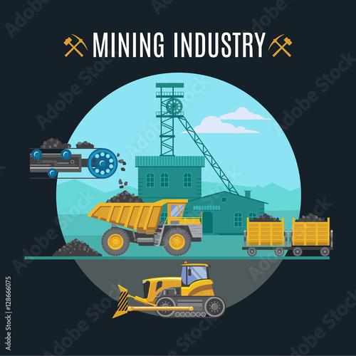Poster de jardin Route Mining Industry Background