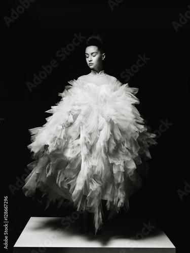 Küchenrückwand aus Glas mit Foto womenART Beautiful elegant woman in luxury evening dress