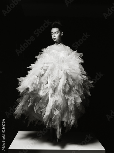 Recess Fitting womenART Beautiful elegant woman in luxury evening dress