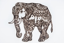 Figure Henna Indian Elephant O...