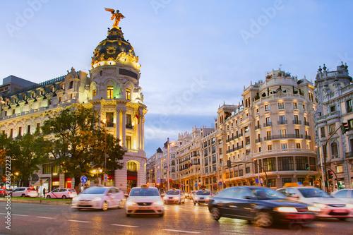 Madrid at dusk, Spain
