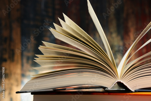 Fotografering  Composition with hardcover books
