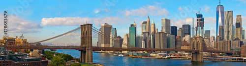Aluminium Prints Brooklyn Bridge Brooklyn Bridge and Cityscape of New York