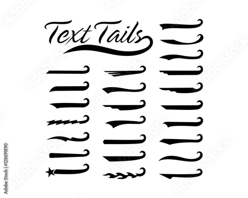 Text tails Wallpaper Mural
