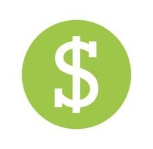 Money Symbol Isolated Icon Vec...