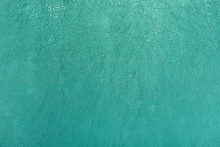 Turquoise Color Leather Texture Background