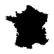 france map silhouette icon vector illustration graphic design