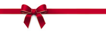 Red Silk Ribbon With Bow - Pan...