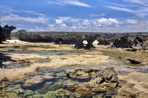 Fotografia almost lunar landscape, Amoronia orange bay, Indian Ocean, north of Madagascar