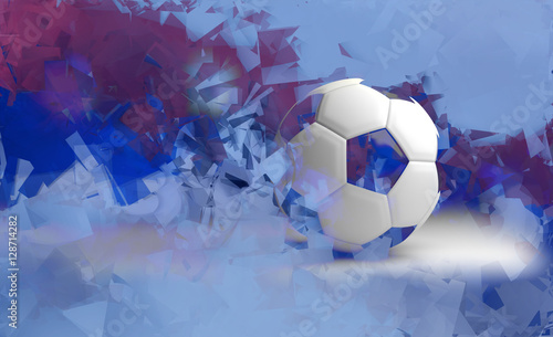 Valokuva  russia background soccer. russian design 3d render