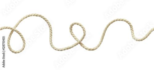 Canvas Print White wavy rope