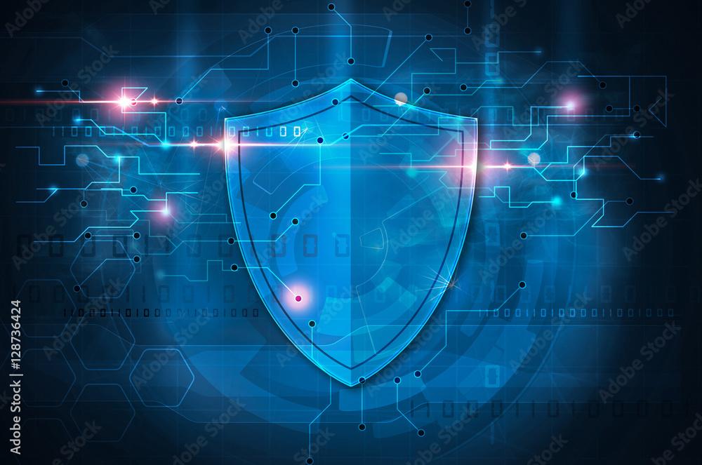 Fototapeta antivirus shield