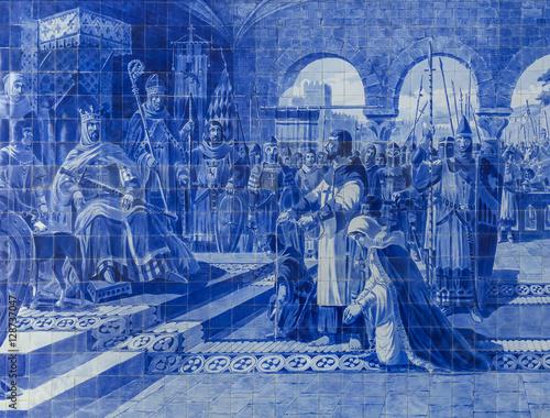 Canvas Prints Artistic monument Ceramic Azulejos in Porto train station - Portugal