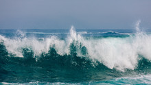 Massive Rolling Waves Crashing Into The Rocks Near Margaret Beach, Western Australia