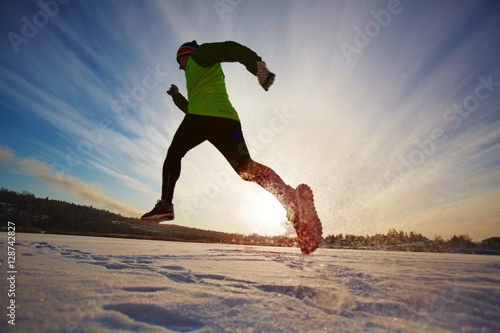 Cadres-photo bureau Glisse hiver Run training