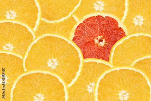 Fotografía  yellow and red oranges background