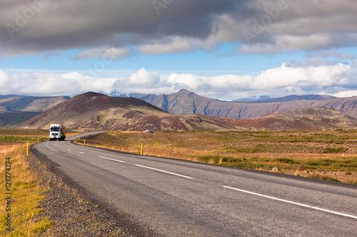 Papiers peints Route 66 Endless Icelandic Highway