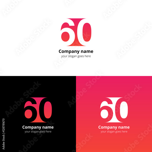 Fotografia  60 logo icon flat and vector design template