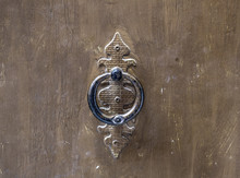 An Old Metal Door Handl