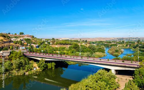 Keuken foto achterwand Turkoois Puente de la Cava, a bridge in Toledo, Spain