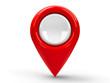 Leinwandbild Motiv Red map pointer blank