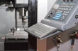 High precision CNC machining center working, operator machining