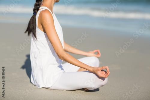 Deurstickers Ontspanning Woman performing yoga