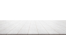 Business Concept - Empty Marble Floor Top With Panoramic Sky View Of Mountain Under Sunrise And Morning Blue Bright Sky For Display Or Montage Product
