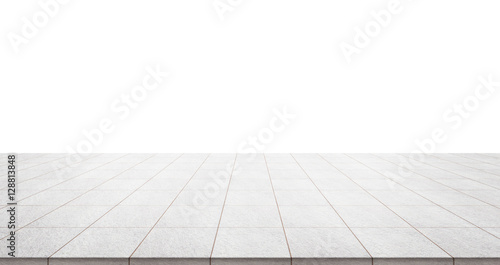 Fototapeta Business concept - Empty marble floor top with panoramic sky view of mountain un
