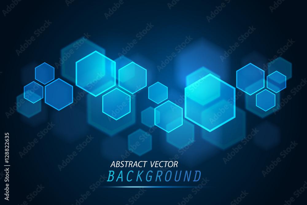 Fototapety, obrazy: Abstract of tech innovation hexagon