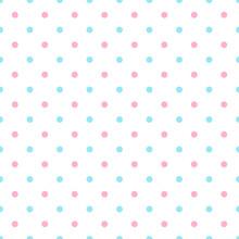 Polka Dot Blue Pink Background