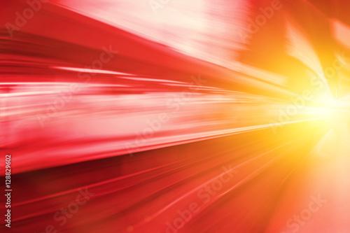 Fotografía Acceleration super fast speed motion of train station for backgr