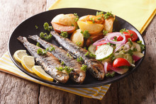 Fried Sardines With Roasted Po...