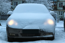 Car Covered Snow
