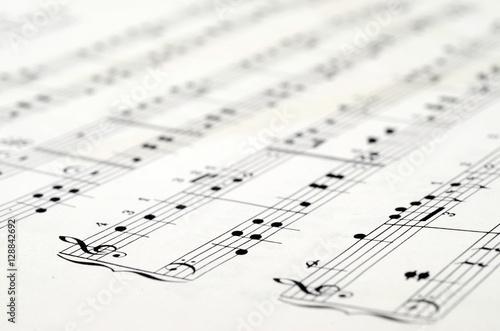 Music score background