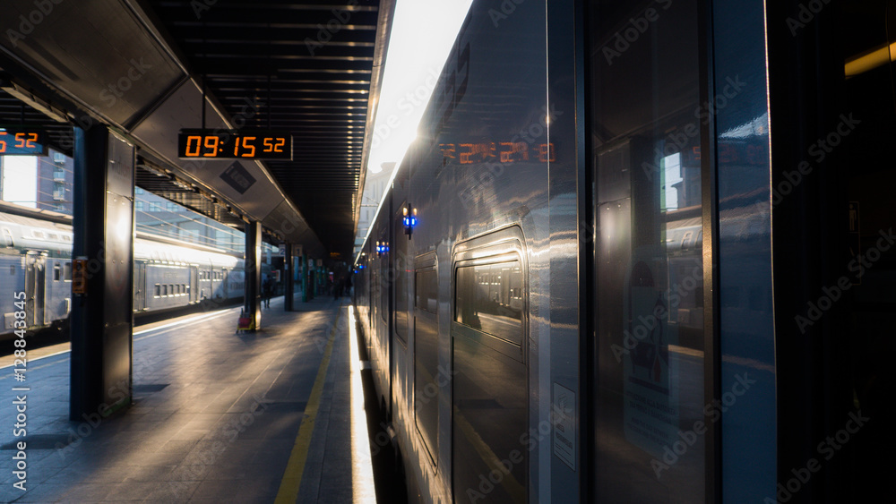 Photo  Train station in Milan - Italy