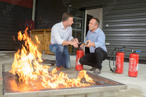 Fotografie, Obraz  fire and safety training